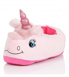 Einhorn Hausschuhe für Kinder in pink