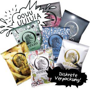 Einhorn Kondome gibt es in allen Farben und Formen